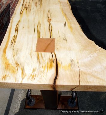 Custom Made Spalted Maple Live Edge Gathering Table