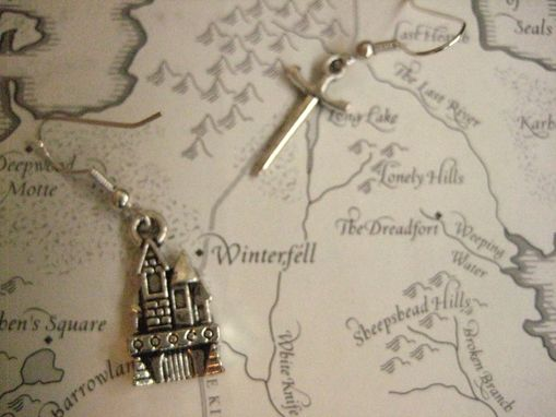 Custom Made Sword Earrings Inspired By King Of The Thrones, The Hobbit, Or Harry Potter