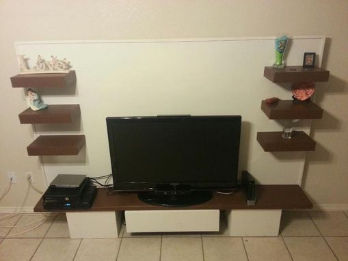 Custom Made Modern Entertainment Center