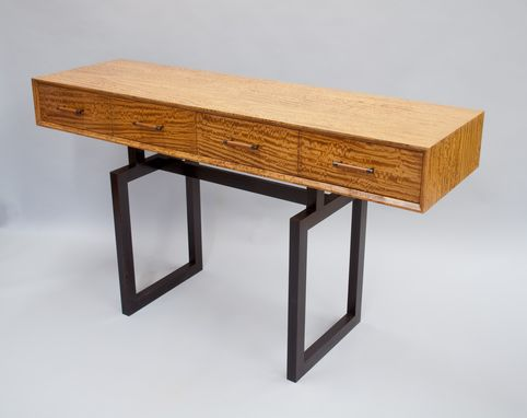 Custom Made Figured Satinwood Console