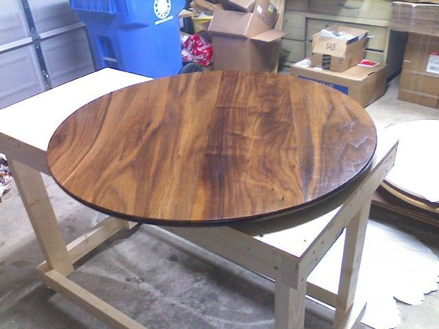 Hand Crafted 30 Inch Black Walnut Lazy Susan By Exotic