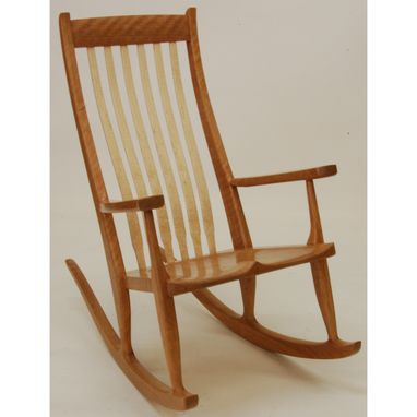 Custom Made Cherry Ashland Rocking Chair