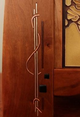 Custom Made Mantle Clock With Inlay