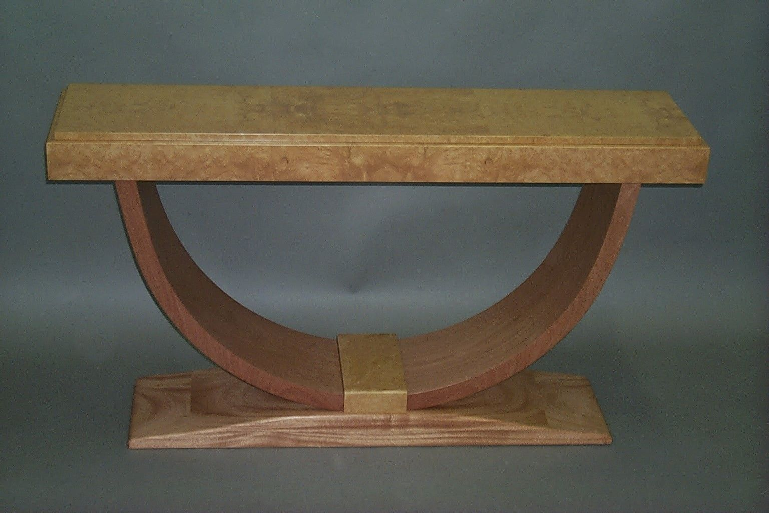 Hand crafted french art deco console table by matthew sharratt custom made french art deco console table geotapseo Image collections