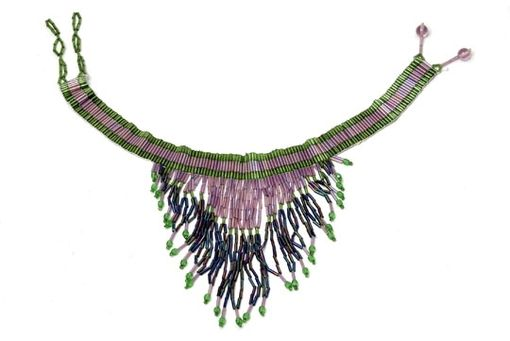 Custom Made Seed  Bead   Necklace, With  Dangles