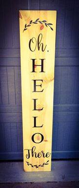 Custom Made Farmhouse Welcome Sign - Dimension Upgrade For Staci