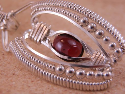 Custom Made Garnet Wire Wrapped Pendant In Choice Of Argentium Silver Or Silver Fill
