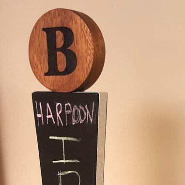 Custom Made Custom Monogram Tap Handle With Chalkboard Surface