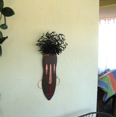 Custom Made African Mask Reclaimed Metal Wall Decor