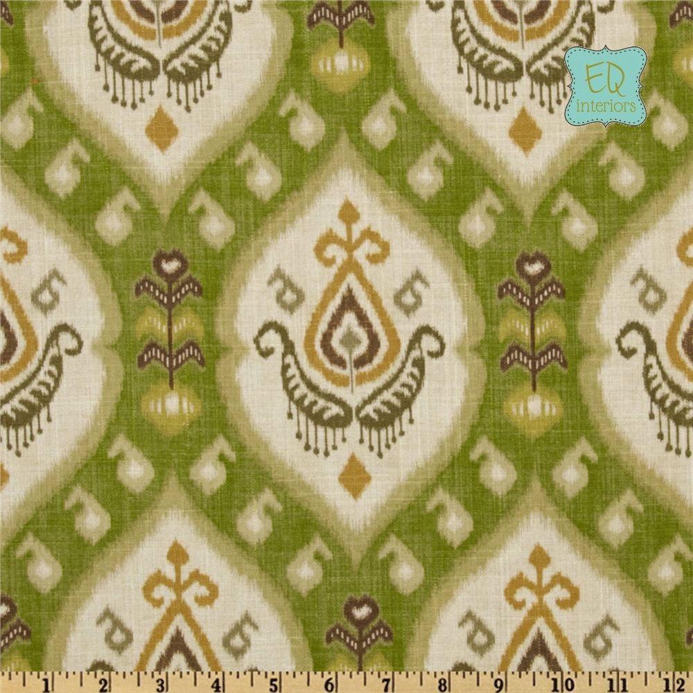 Ikat curtain panels - Custom Made 84l X 50w Custom Curtain Panels Katandra Ikat Avocado Green
