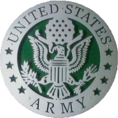 Custom Made Us Army Floating Metal Sign