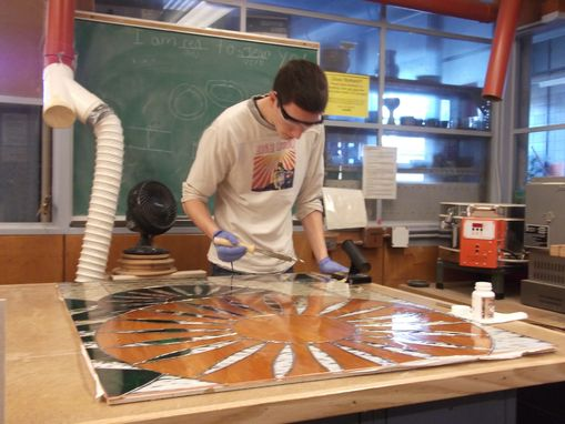 Custom Made Wisconsin Union Stained Glass Installation