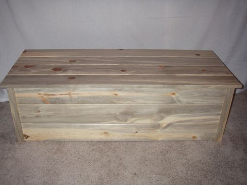 Custom Made Colorado Blue Stained Pine Blanket Chest