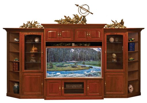Custom Made 60 Inch Shaker Tv Credenza - Cherry