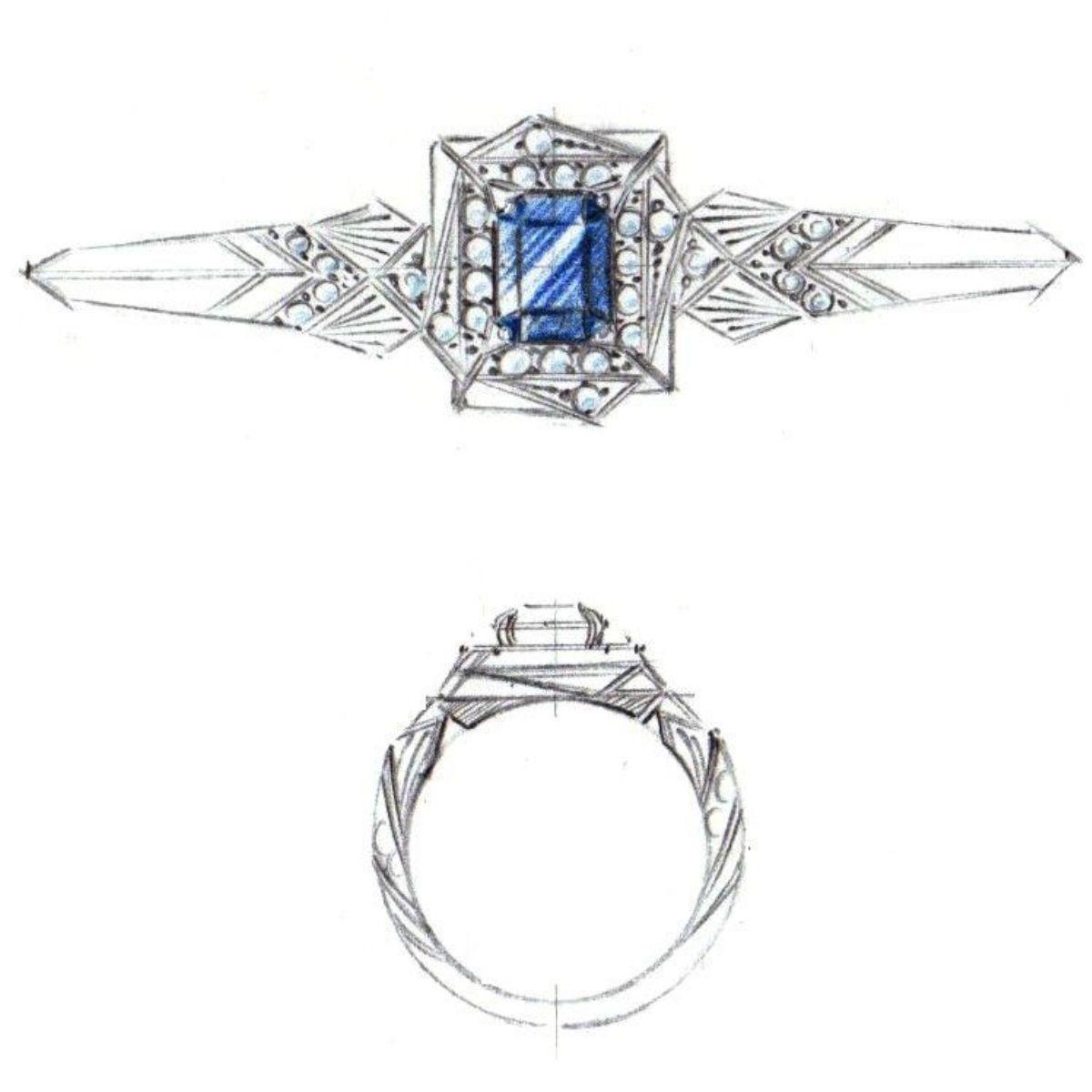 6d539fa88acb5 Art Deco Engagement Rings | CustomMade.com