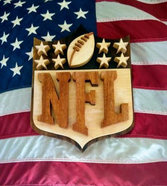 Custom Made Wood Nfl Logo