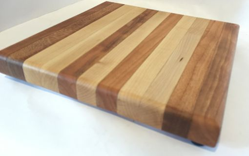 Custom Made Cutting Board - Cherry And Maple Natural Wooded Edge Grain | Chopping Board | 8x8