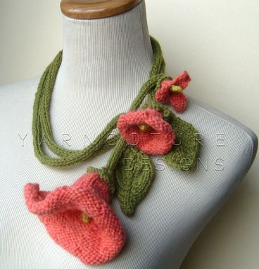 Custom Made Coral Dreams Knit Lariat