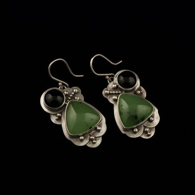 Custom Made Scalloped Jade Earrings