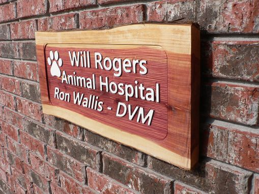 "Custom Made Carved Signs 22"" X 10"" X 7/8"" Cedar"