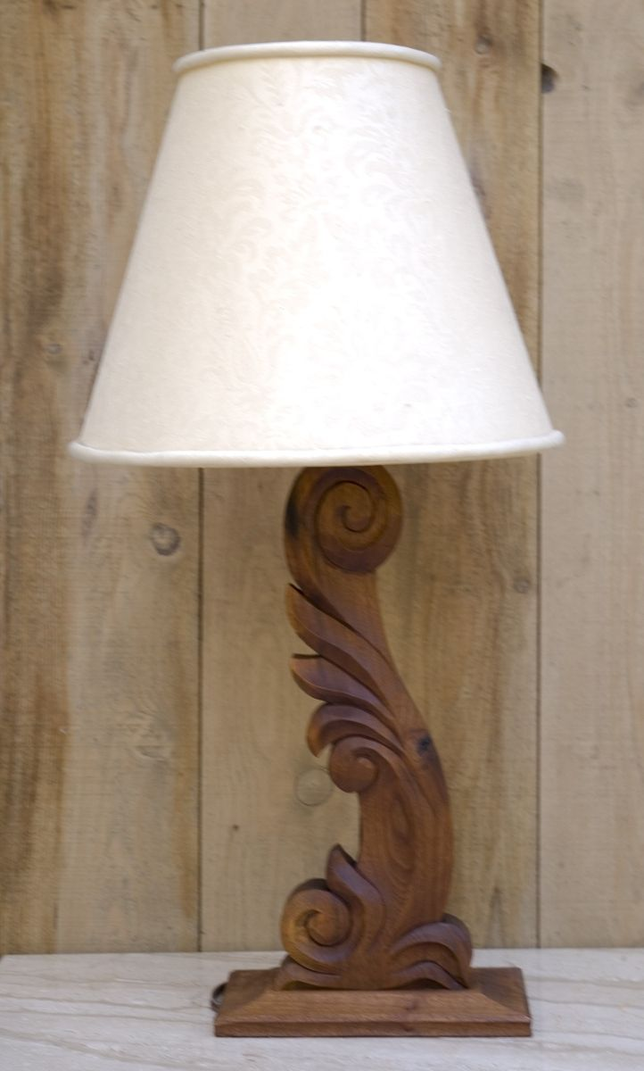 Custom Hand Carved Lamp By K M Davis Woodcarving