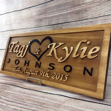 Custom Made Wedding Gift Wedding Sign Anniversary Gift Family Name Sign Established Sign Personalized Last Name