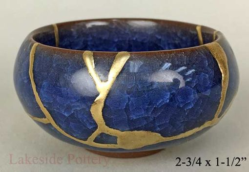Custom Made Kintsugi / Kintsukuroi Pottery Repaired With Gold Effect