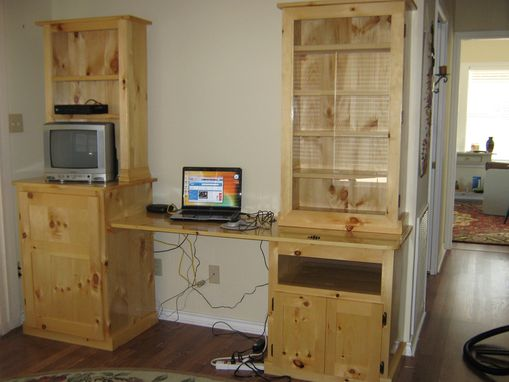 Custom Made Work Station From Knotty Pine