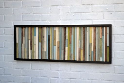 Custom Made Wood Wall Art - Abstract Acrylic Painting On Wood - Reclaimed Wood Art
