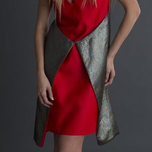 6a9168a978 Wraparound Geometric Dress by