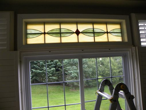 Custom Made Stained Glass Transom Window