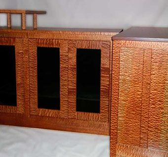 Custom Made Sapele Audio Cabinets