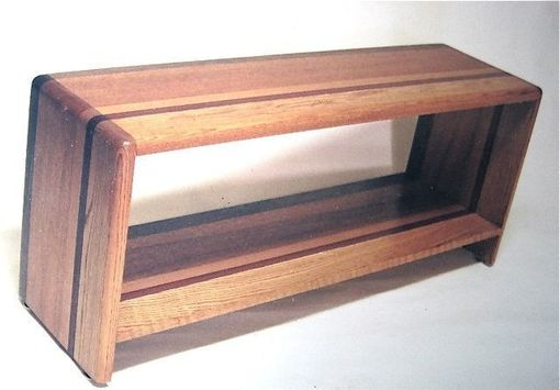 Custom Made Combined Woods Bench With Shelf