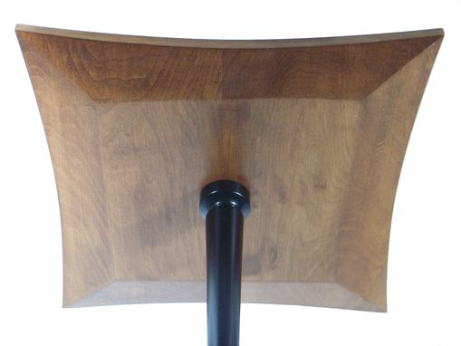Custom Made Square Book Matched Maple Accent Table No.103 With Four Legs