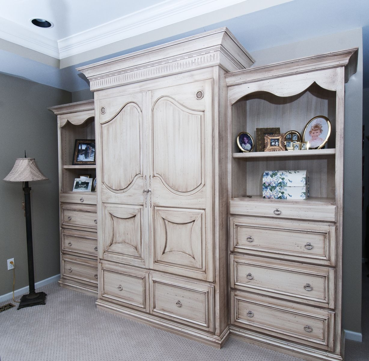 Hand Made Bedroom Wall Unit By Custom Wood Creations
