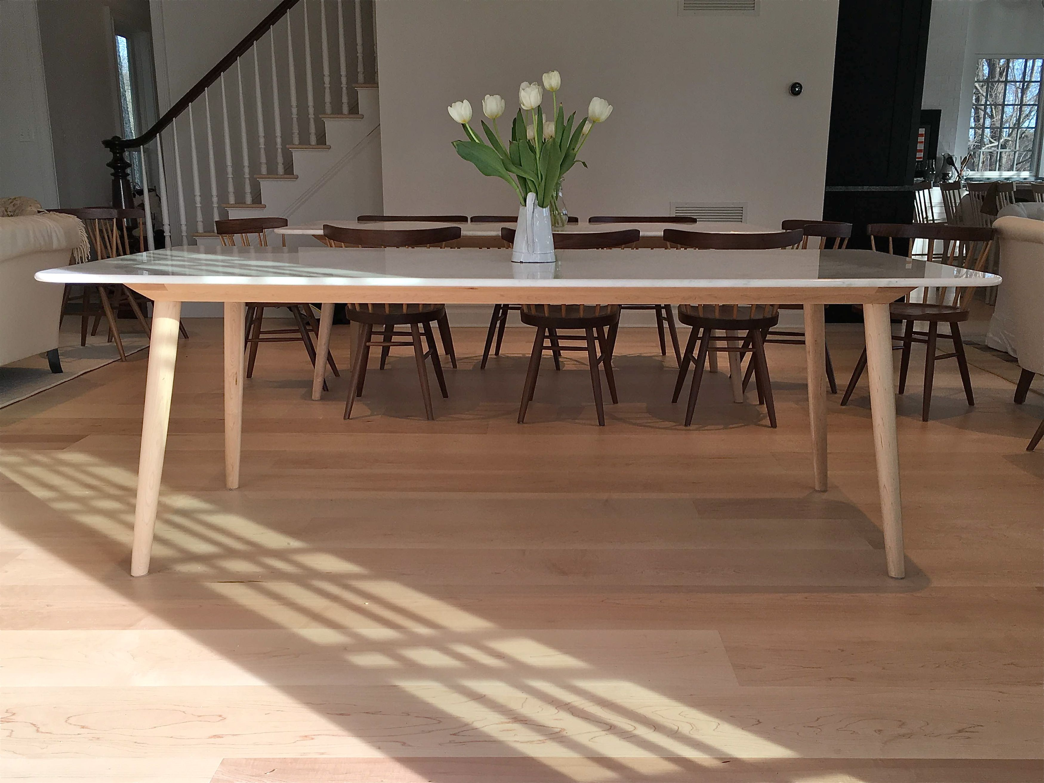 century leaves fresh mid table tables with dining unique hidden of modern leaf