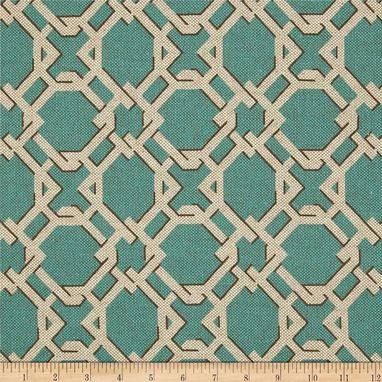 Custom Made Lacefield Keenland Geometric Trellis Lattice In Horizon Blue 108l X 50w Curtain Panels