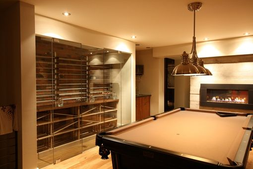 Custom Made Walnut Wine Cellar.