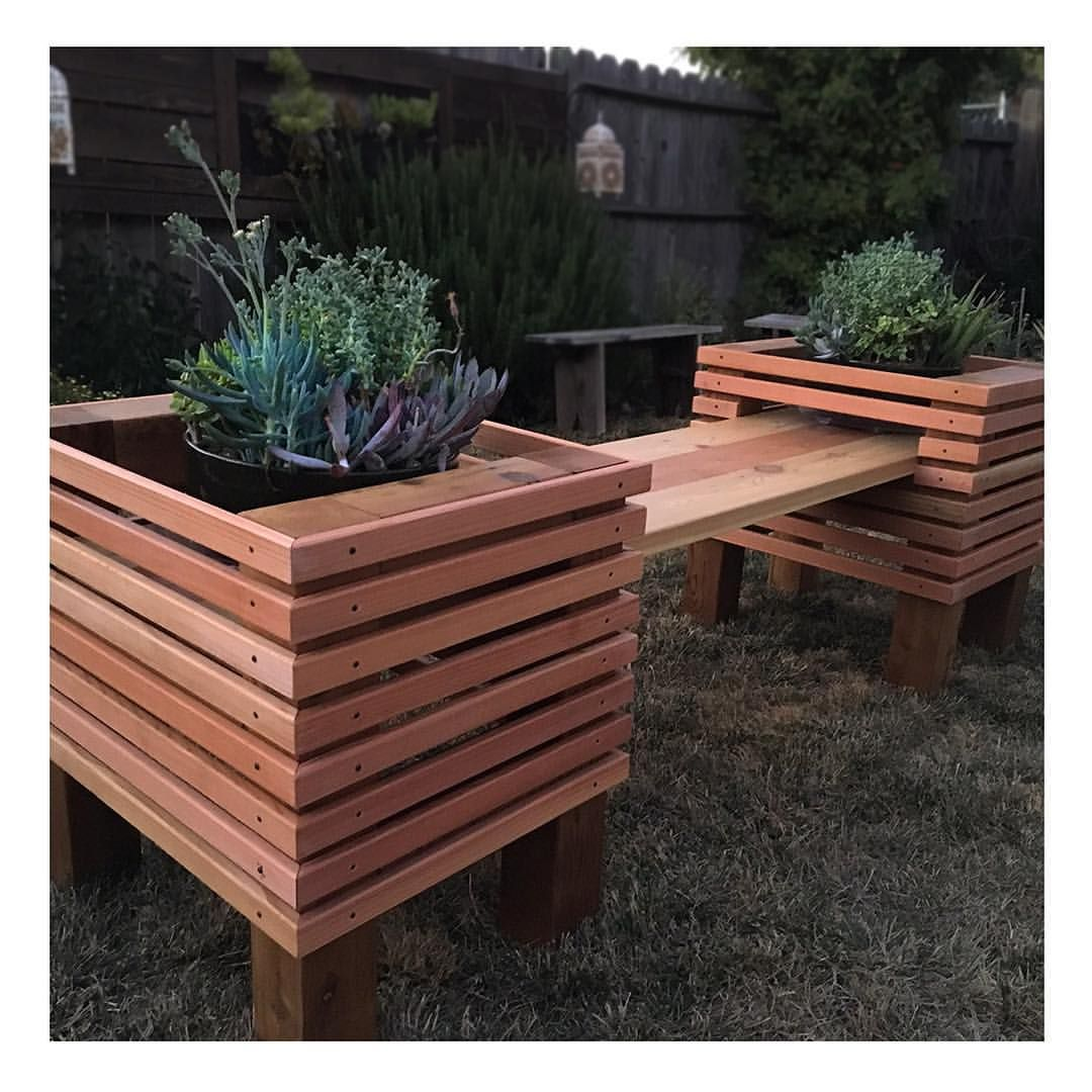 Awesome Hand Made Succulent Bench By Strong Wood Studio Custommade Com Caraccident5 Cool Chair Designs And Ideas Caraccident5Info