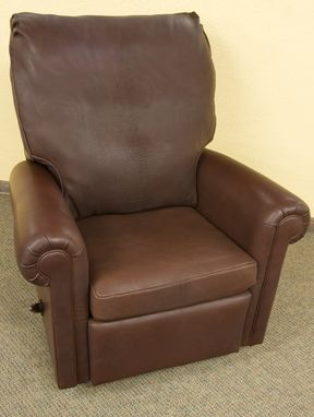 Custom Made Leather Recliner Chair