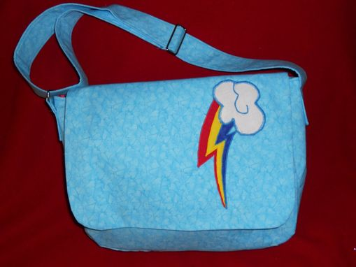 Custom Made Rainbow Dash Messenger Bag
