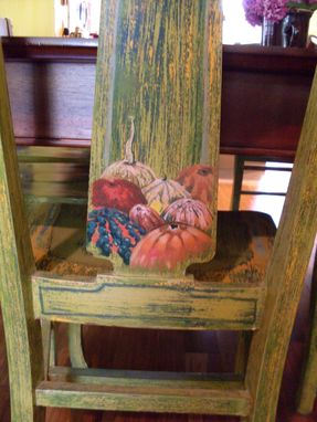 Custom Made Painted Furniture Repurposed Chairs: Dining Room