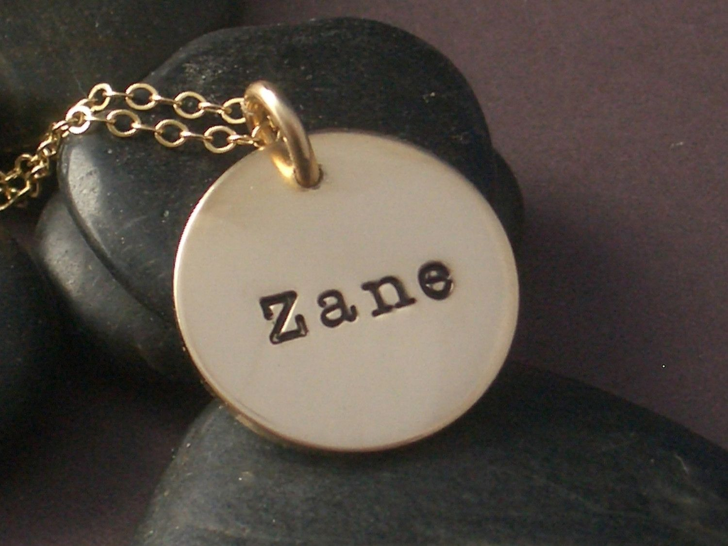 com kid personalized necklace custommade jewelry gold in hand name stamped gallery