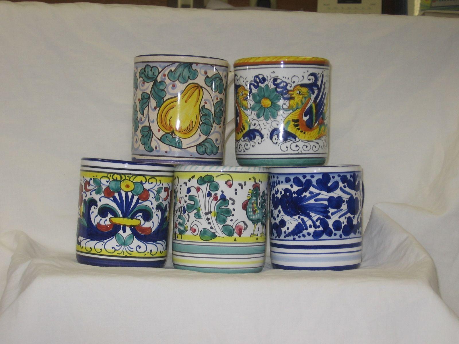 Handmade italian ceramic mugs by the pottery co for Made com italia