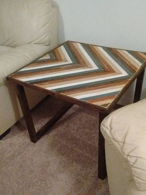 Custom Made Chevron End Table