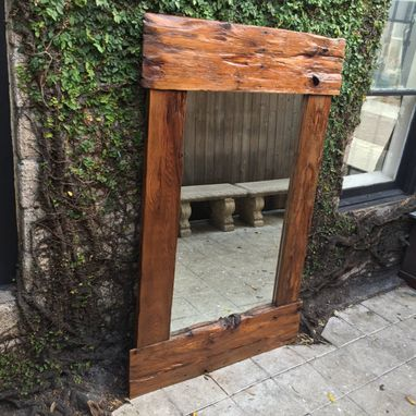 Custom Made Full Body Mirror From Recalimed Cedar
