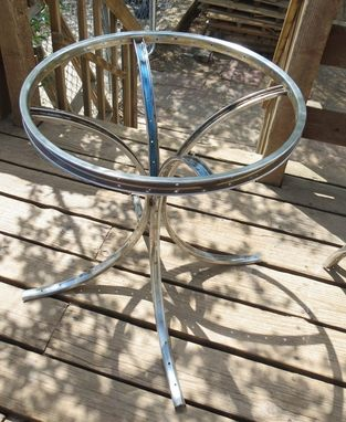Custom Made Upcycled Bicycle Tables - The End Table