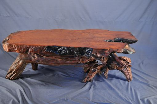 Custom Made Redwood Coffee Table