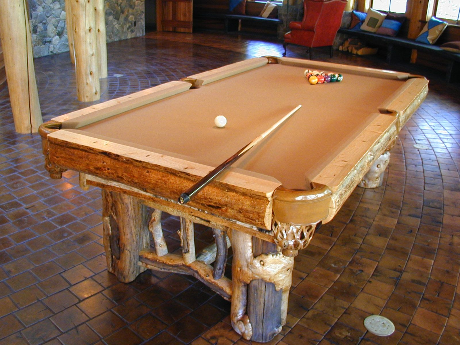 hand made rustic pool table by dan joseph woodworks. Black Bedroom Furniture Sets. Home Design Ideas