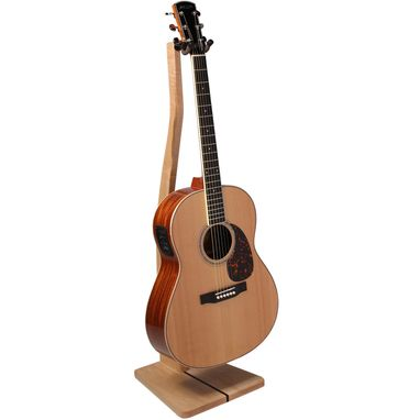 Custom Made Wooden Guitar Stand - Mahogany, Walnut, Maple Or Cherry